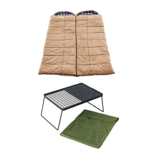 2x Adventure Kings Premium Sleeping bag -5°C to 5°C Degrees Celsius - Left and Right Zipper + Camp Fire BBQ Plate