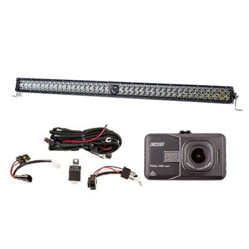 "Kings 30"" Laser Light Bar + Illuminator LED Light Bar Wiring Harness + Dash Camera"