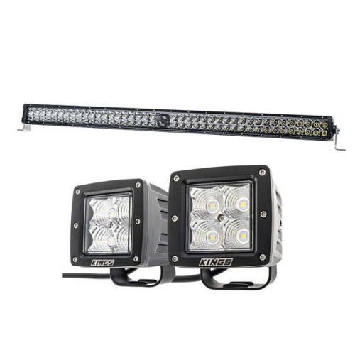 """Kings 40"""" Laser Light Bar + 3"""" LED Work Light - Pair"""