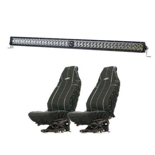 "Kings 40"" Laser Light Bar + Heavy Duty Seat Covers (Pair)"