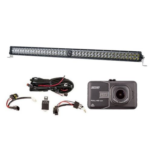 "Kings 40"" Laser Light Bar + Illuminator LED Light Bar Wiring Harness + Dash Camera"