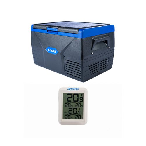Kings 50L Fridge / Freezer + Adventure Kings Wireless Fridge Thermometer