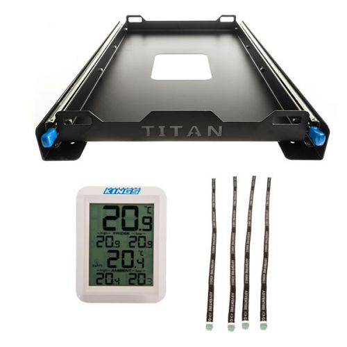 Titan 60L Fridge Slide + Adventure Kings Fridge Tie Down Straps (4 pack) + Wireless Fridge Thermometer