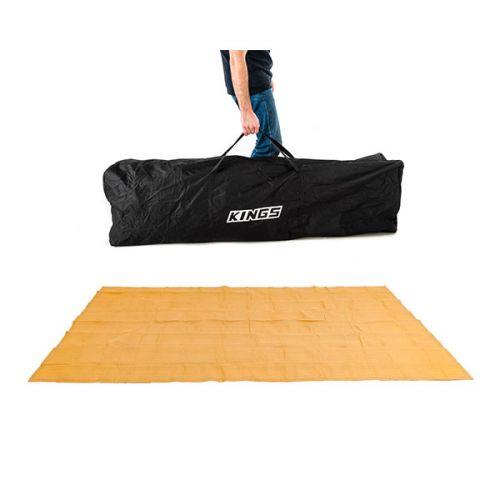 Kings 6x3m Polyester Gazebo Bag + Camping Mesh Flooring 6m x 3m - High-Density Weave
