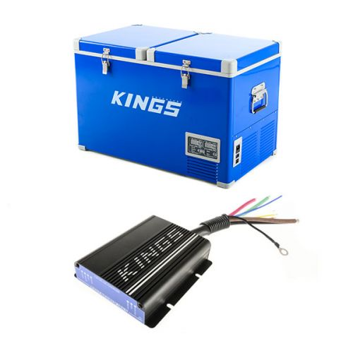 Adventure Kings 70L Camping Fridge + Adventure Kings 25AMP DC-DC Charger (with MPPT SOLAR)