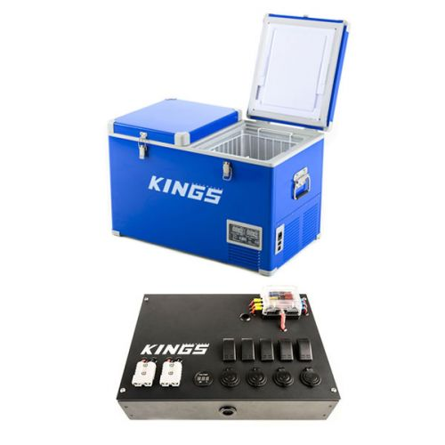 Adventure Kings 70L Camping Fridge/Freezer + 12V Control Box