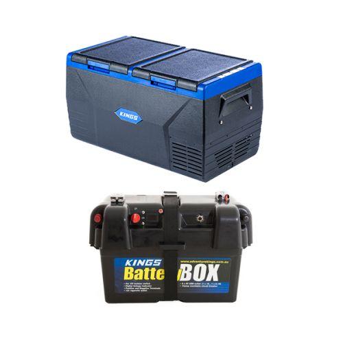 Kings 75L Dual Zone Fridge / Freezer + Battery Box