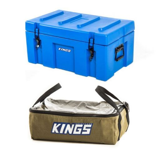 Adventure Kings 78L Tough Tool Box + Adventure Kings Clear Top Canvas Bag