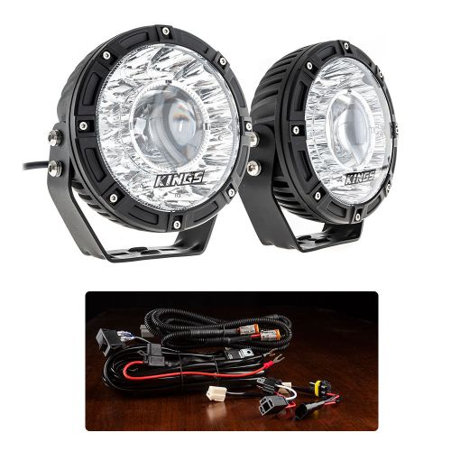 "Kings 7"" Laser Driving Lights (Pair) + Smart Harness"