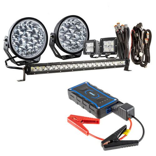 """Adventure Kings Domin8r Xtreme 7"""" Ultimate LED Light Pack + 1000A Lithium Jump Starter"""