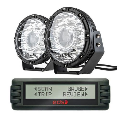 "Kings 8.5"" Laser MKII Driving Lights (pair) + Engine Data Scan Computer"