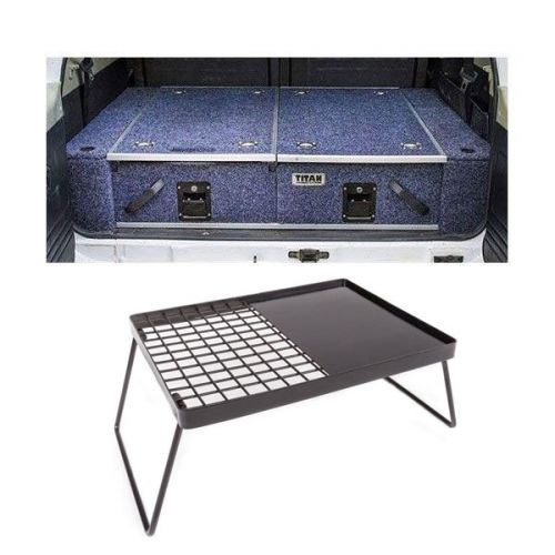 900mm Titan Rear Drawers suitable for smaller wagons + Kings Essential BBQ Plate