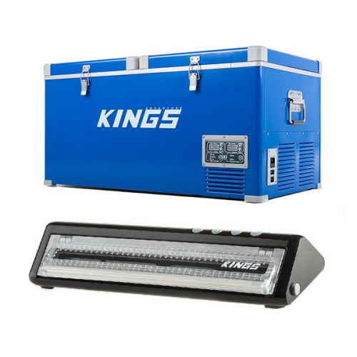 Kings 90L Camping Fridge Freezer + Vacuum Sealer