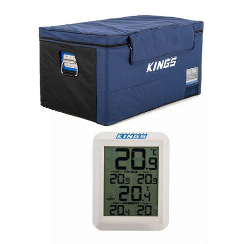 Kings 90L Fridge Cover + Wireless Fridge Thermometer