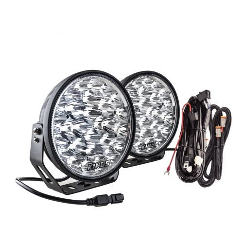 "Kings 9"" Domin8r Xtreme Driving Lights Fitted with OSRAM LEDs (Pair) with Included Smart Wiring Harness 