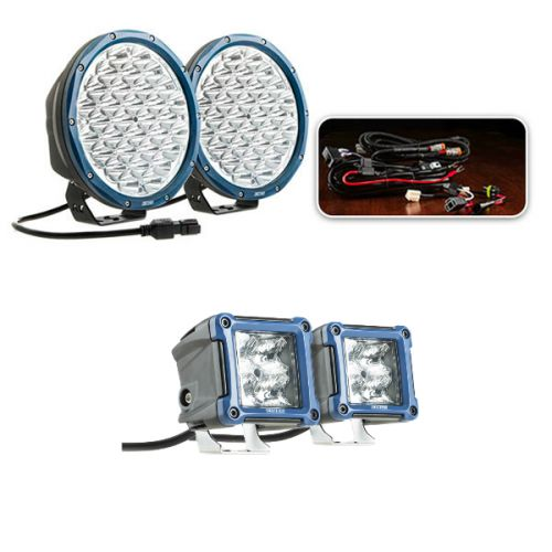 "Essential 9"" OSRAM LED Domin8rX Driving Light Pack + 3"" LED Work Light - Pair"
