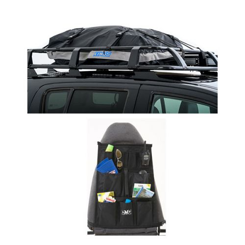 Half-Length Premium Waterproof Rooftop Bag + Car Seat Organisers