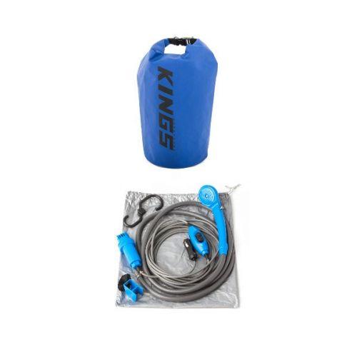 Adventure Kings 12v Portable Shower Kit + 15L Dry Bag