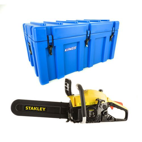 Adventure Kings 156L Storage Box + Stanley Camping Chainsaw