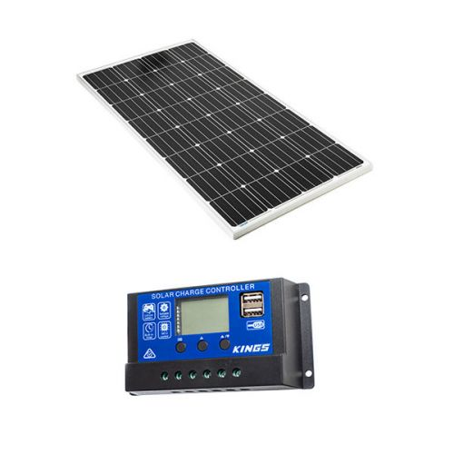Adventure Kings 160w Fixed Solar Panel + 15A PWM Solar Controller
