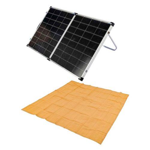 Kings Premium 160w Solar Panel with MPPT Regulator + Adventure Kings - Mesh Flooring 3m x 3m