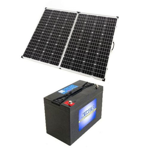Adventure Kings 250w Solar Panel + AGM Deep Cycle Battery 115AH