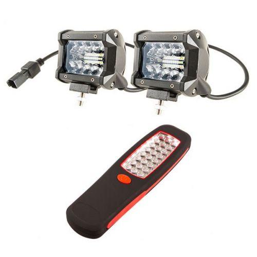 "Adventure Kings 4"" LED Light Bar + Illuminator 24 LED Work Light"