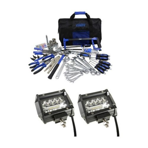 "Adventure Kings 4"" LED Light Bar + Tool Kit - Ultimate Bush Mechanic"