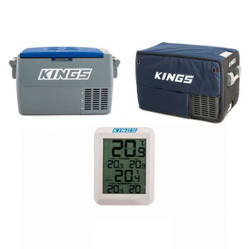 Adventure Kings 45L Camping Fridge + 45L Camping Fridge Cover + Wireless Fridge Thermometer