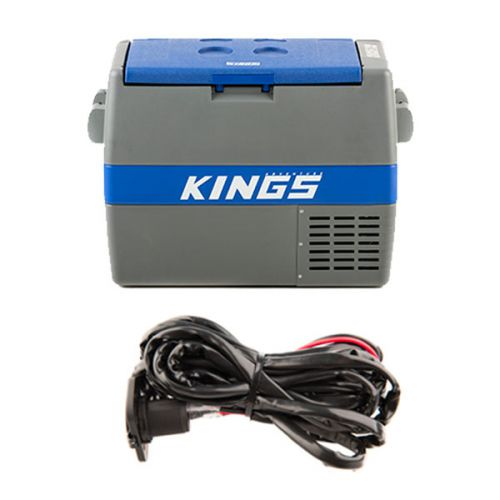 Adventure Kings 60L Camping Fridge/Freezer + 12V Fridge Wiring Kit
