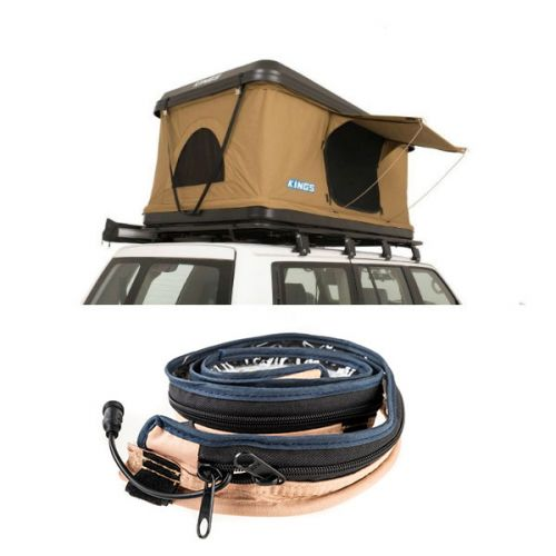Kings Kwiky MKII Hard Shell Rooftop Tent + Adventure Kings LED Strip Light