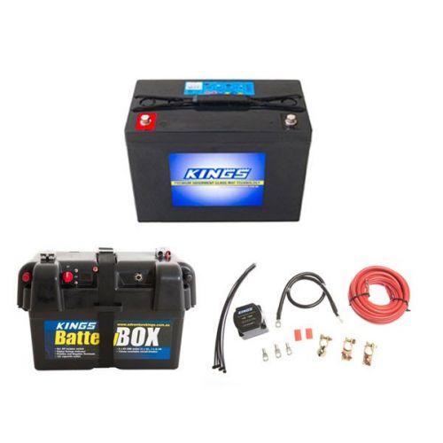 Adventure Kings AGM Deep Cycle Battery 98AH + Battery Box + Dual Battery System
