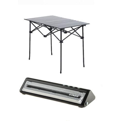 Adventure Kings Aluminium Roll-Up Camping Table + Vacuum Sealer