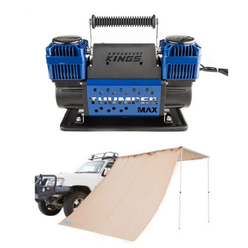 Adventure Kings Awning Side Wall + Thumper Max Dual Air Compressor