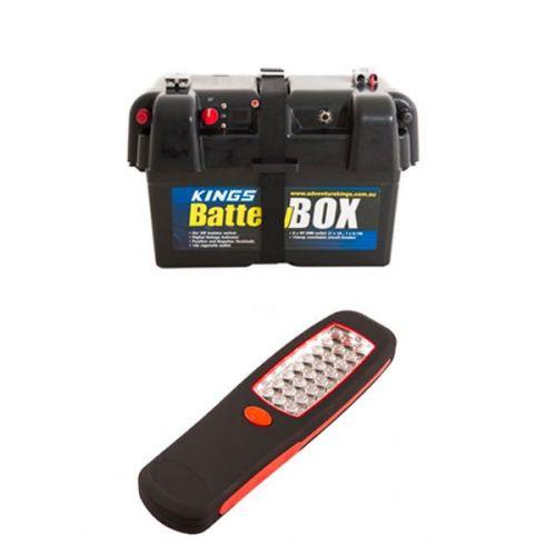 Adventure Kings Battery Box + Illuminator 24 LED Work Light