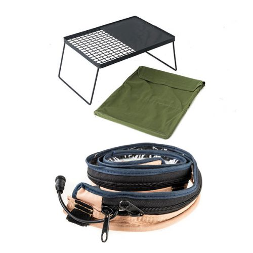Adventure Kings Camp Fire BBQ Plate + Adventure Kings LED Strip Light