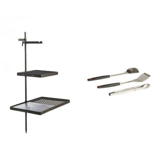 Adventure Kings Campfire Cooking Grill/BBQ Combo + BBQ Tool Set