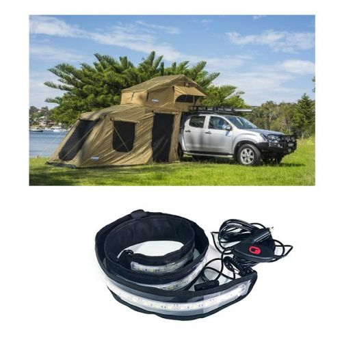 Adventure Kings Roof Top Tent + 6-man Annex + LED Strip Light