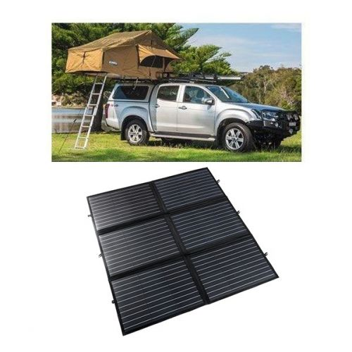 Adventure Kings Roof Top Tent + 200W Portable Solar Blanket