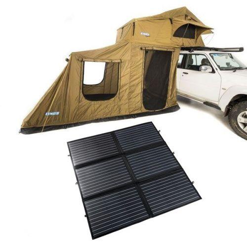 Adventure Kings Roof Top Tent + 6-man Annex + 200W Portable Solar Blanket