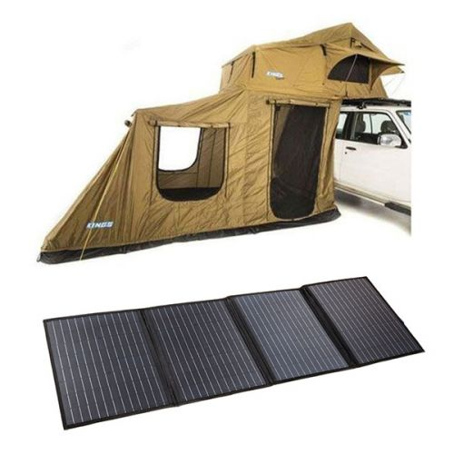 Adventure Kings Roof Top Tent + 6-man Annex + 120W Portable Solar Blanket