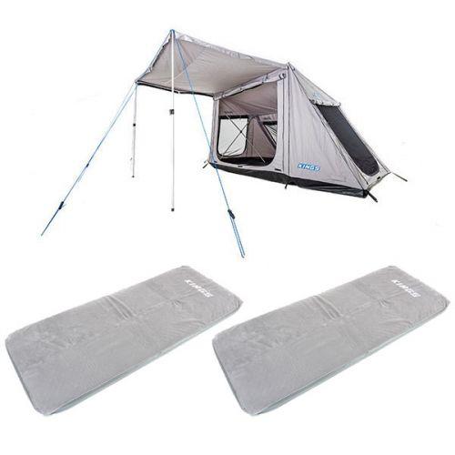 Adventure Kings Swift 5-person Tent + 2x Self-Inflating Foam Mattress - Single