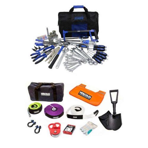 Adventure Kings Tool Kit - Ultimate Bush Mechanic + Hercules Complete Recovery Kit