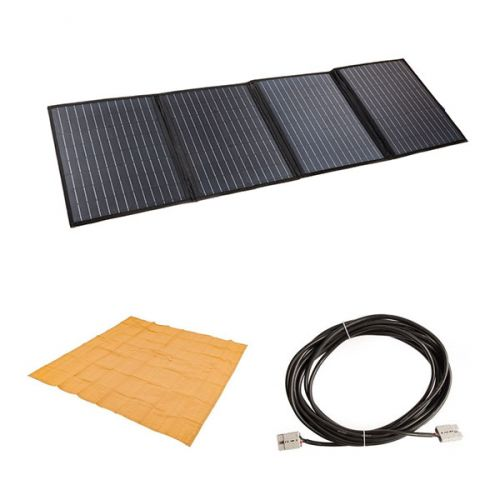 Adventure Kings 120W Portable Solar Blanket + Mesh Flooring 3m x 3m + 10m Lead For Solar Panel Extension