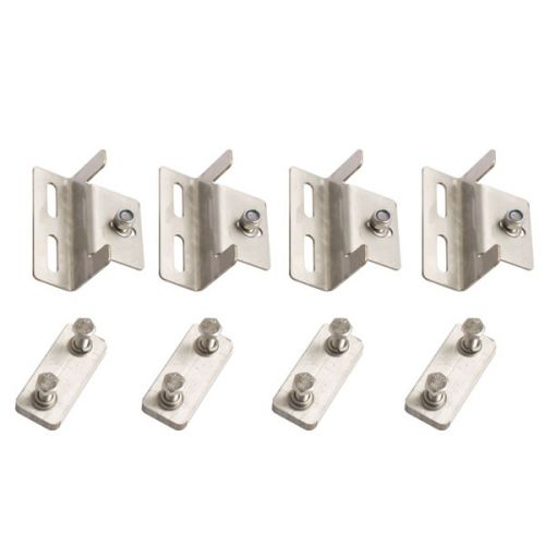 Solar Panel Mounting Brackets | To Suit Kings 110W Fixed Solar Panel | Mounting Hardware Incl. | Stainless Steel | Adventure Kings