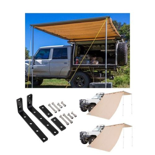 Adventure Kings Awning 2x3m + Awning Mounting Brackets (Pair) + 2x Awning Side Wall