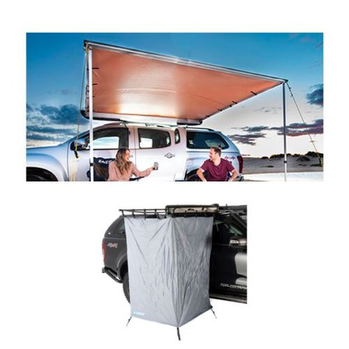 2.5 x 2.5m 2 in 1 Awning + Strip Light  + Instant Ensuite