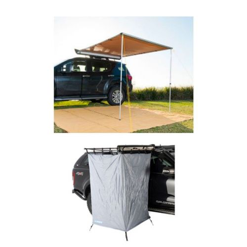 2 x 2.5m 2 in 1 Awning + Strip Light + Instant Ensuite