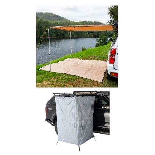 2 x 3m 2 in 1 Awning + Strip Light + Instant Ensuite