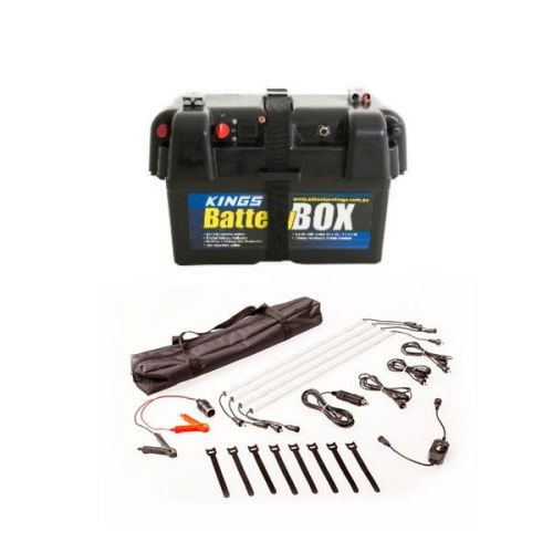 Adventure Kings Battery Box + Illuminator 4 Bar Camp Light Kit